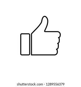 Thumbs up icon. social media icon.