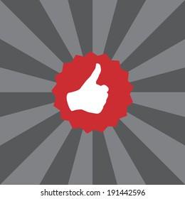 thumbs up icon sunshine effect
