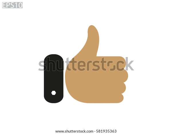 thumbs up icon, vector illustration eps10