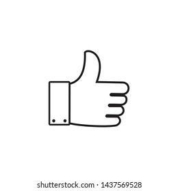 Thumbs Up Icon Vector Illustration Logo Template