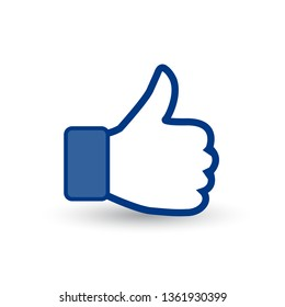 thumbs up icon. vector like icon. social network vector icon for app, web site