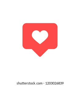 Thumbs up Instagram and heart shape. Like icon. Social media. Vector illustration.\n
