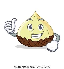 Thumbs up snake fruit character cartoon