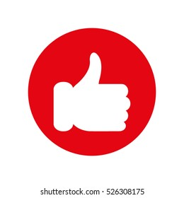 thumbs up, great, hand, icon, vector icon, eps10