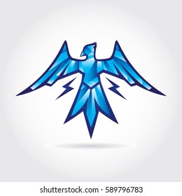 Thunder Bird Logo Design Symbol