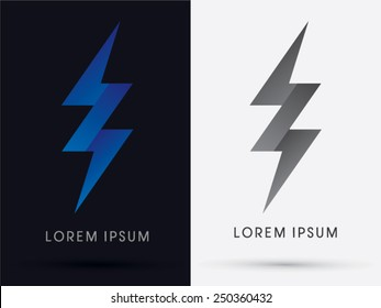 Thunder, Bolt ,Abstract Lighting flat, logo, symbol, icon, graphic, vector.