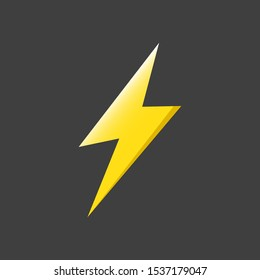 Thunder and bolt lighting flash icons vector