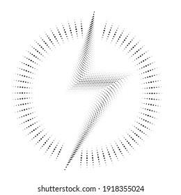 Thunder bolt lighting flash logo . Electric power design element . Vector illustration.