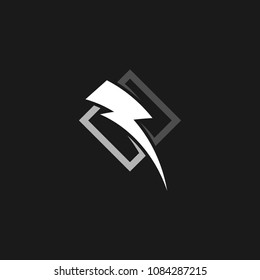 Thunder and bolt lightning flash logo icon template design. Power energy vector illustration
