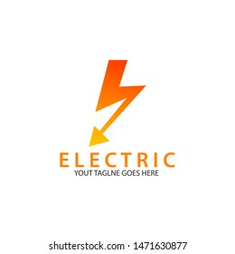 Thunder and bolt lightning logo design template. Electric flash and energy vector illustration