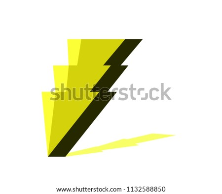 Thunder High Voltage Symbol Warning Sign Stock Vector Royalty Free