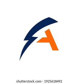 A thunder logo design eps