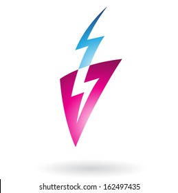 Thunder Strike Abstract Icon