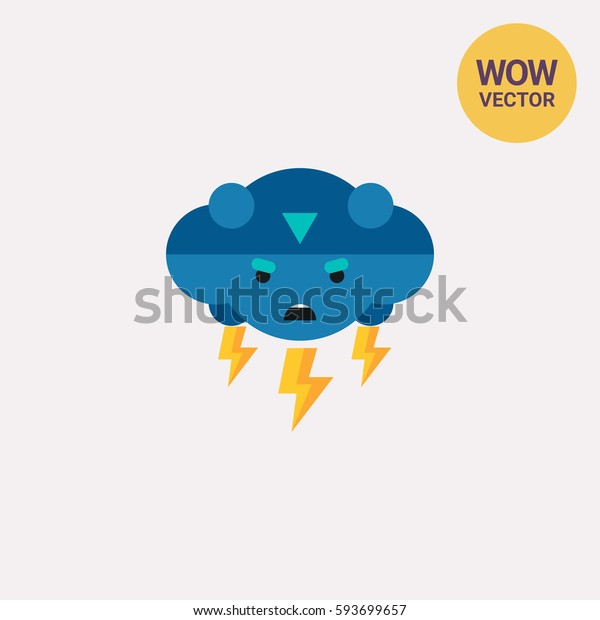 Thunder Vector Icon
