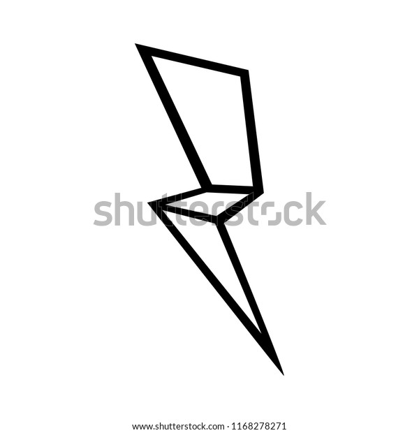 thunder vector iconthunder outline on white stock vector royalty free 1168278271 shutterstock
