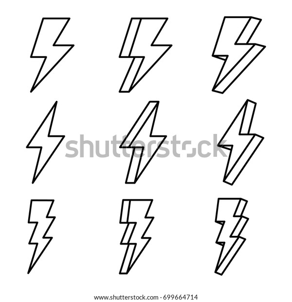 thunder thunder vector thunder outline stock vector royalty free 699664714 https www shutterstock com image vector thunder vector outline 699664714