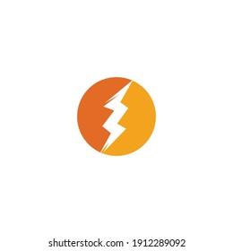 Thunderbolt logo and symbol vector