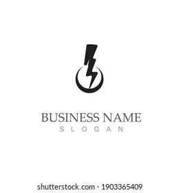 thunderbolt logo vector illustration template design