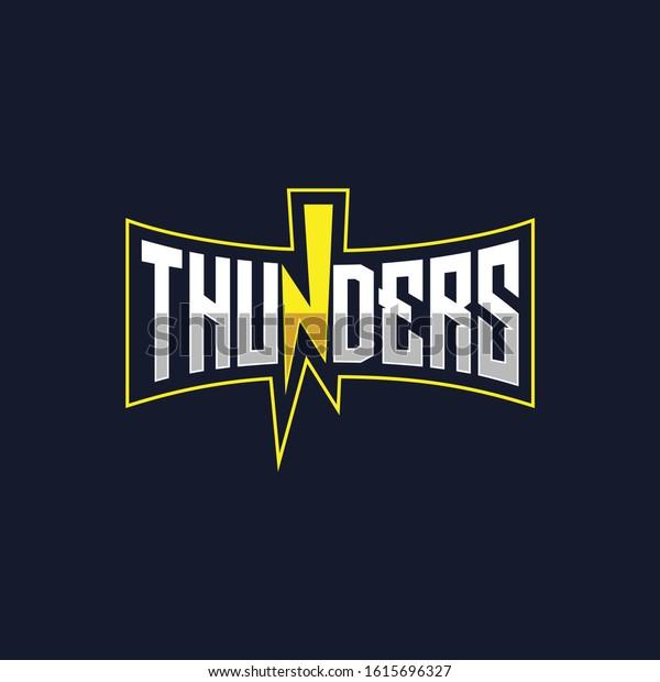 thunders e sport logo thunder vector stock vector royalty free 1615696327 https www shutterstock com image vector thunders e sport logo thunder vector 1615696327