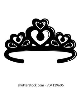 Tiara crown icon. Simple illustration of tiara crown vector icon for web