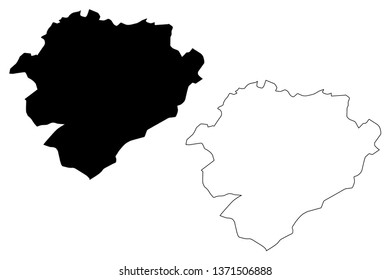 Tiaret Province (Provinces of Algeria, Peoples Democratic Republic of Algeria) map vector illustration, scribble sketch Tiaret map