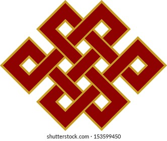 Tibetan endless knot, eternal, Buddhism, Spirituality