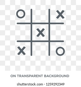 Tic tac toe icon. Tic tac toe design concept from Entertainment collection. Simple element vector illustration on transparent background.
