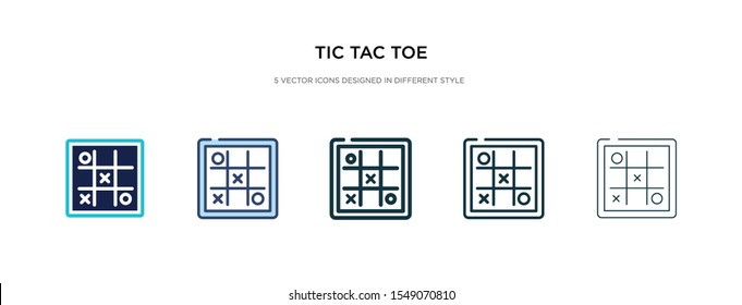 tic tac toe icon in different style vector illustration. two colored and black tic tac toe vector icons designed in filled, outline, line and stroke style can be used for web, mobile, ui