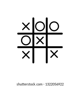 Tic tac toe  icon. x o icon vector