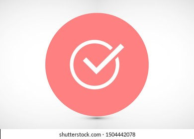 Tick checkmark approval check mark doodle Icon .Tick checkmark Vector Icon . Tick checkmark Check list button icon. Tick checkmark mark in round sign Icon .