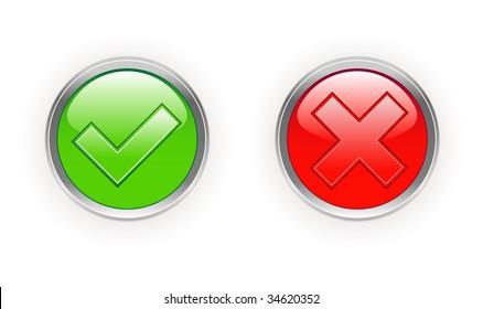 tick & cross icons