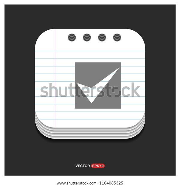 Tick icon - free vector icon