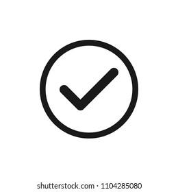 Tick icon. Vector Tick Check Mark Icon . Accept sign vector approve illustration
