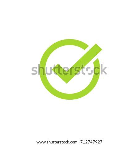 Tick Icon Vector Symbol Green Checkmark Stock Vector Royalty Free