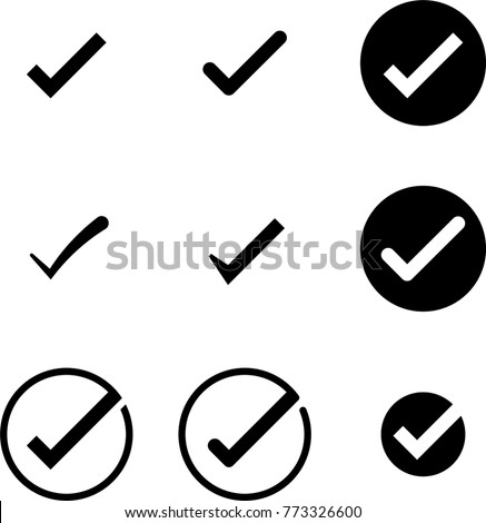 vetor stock de tick mark icon collection check mark livre de