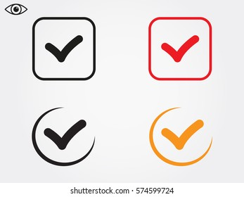 tick, mark, icon, vector illustration eps10