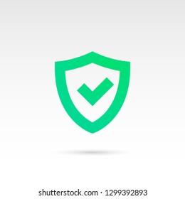 Tick mark in Shield vector Icon