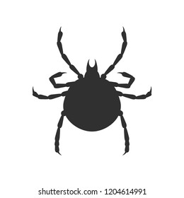 Tick vector flat sign black on white background