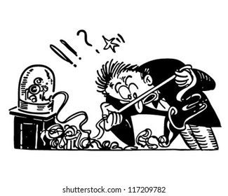 Ticker Tape Shocker - Retro Clipart Illustration