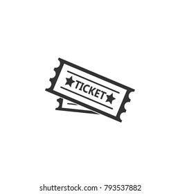 ticket to the attraction icon. Amusement park element icon. Premium quality graphic design. Signs, outline symbols collection icon for websites, web design, mobile app on white background