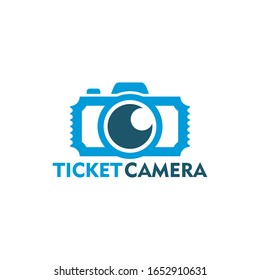 Ticket Camera Logo Template Design