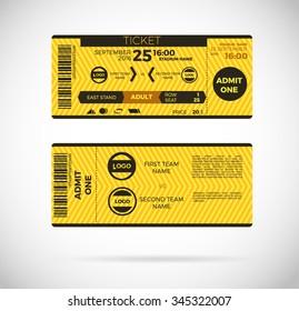 Ticket Card. modern element vector design