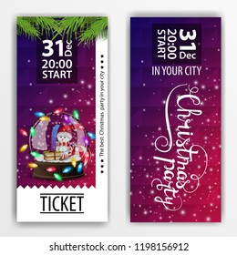 christmas party ticket template images stock photos vectors