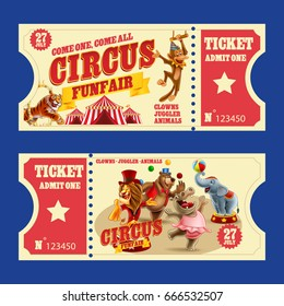 TICKET CIRCUS RETRO