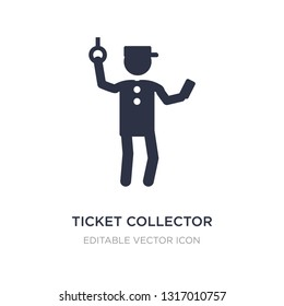 ticket collector icon on white background. Simple element illustration from People concept. ticket collector icon symbol design.