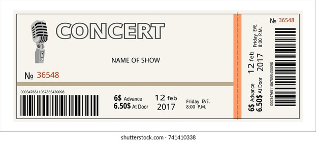 ticket concert invitation, show, coupon, ticket, pass admission entry entrance