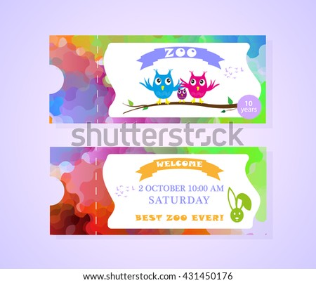 ticket design template zoo stock vector royalty free 431450176