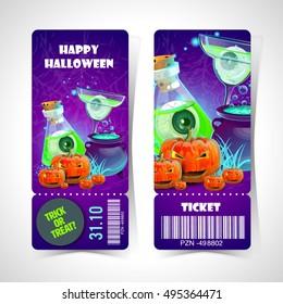 ticket halloween party.Happy Halloween