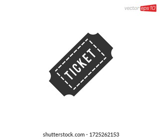 Ticket Icon Design Illustration Vector