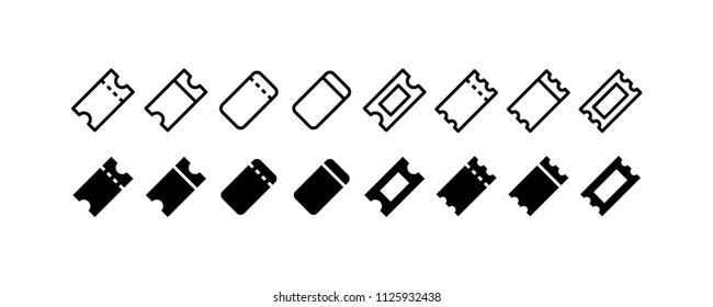 Ticket Icon Design Vector Symbol Coupon